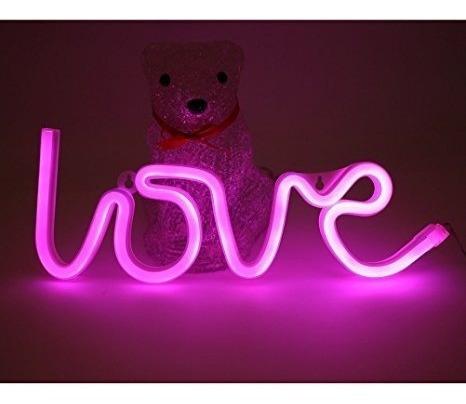 luz de neón love/ led luminoso colgante