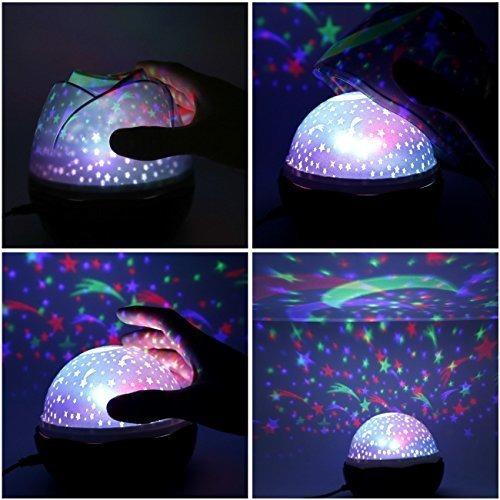 luz de noche estrellada, proyector de luz rotativa star ligh