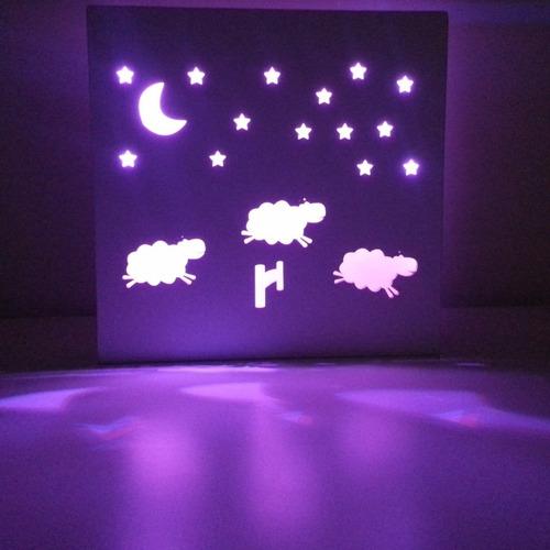 luz de noche led velador infantil dulces sueños ovejas laito
