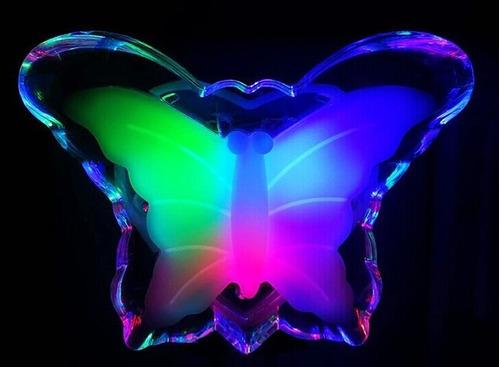 luz de noche led velador mariposa enchufe bajo consumo