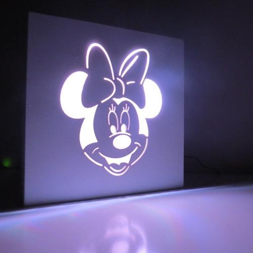 luz de noche velador infantil de led color a eleccion laito