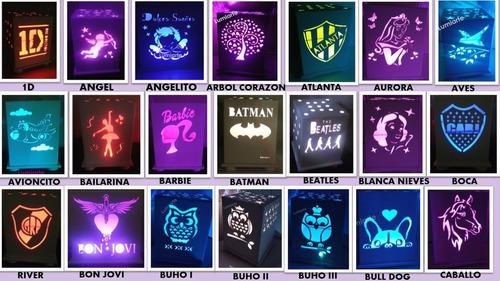 luz de noche violetta nenas infantil velador lumiarte