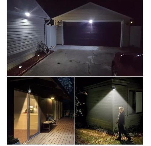 luz de parede led com energia solar com sensor 20 led oferta