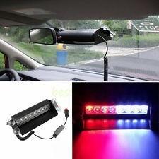 luz de policia de color roja y azul para auto 12v  6 led