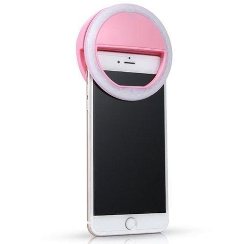 luz de selfie ring light anel flash celular mudança 3 cores
