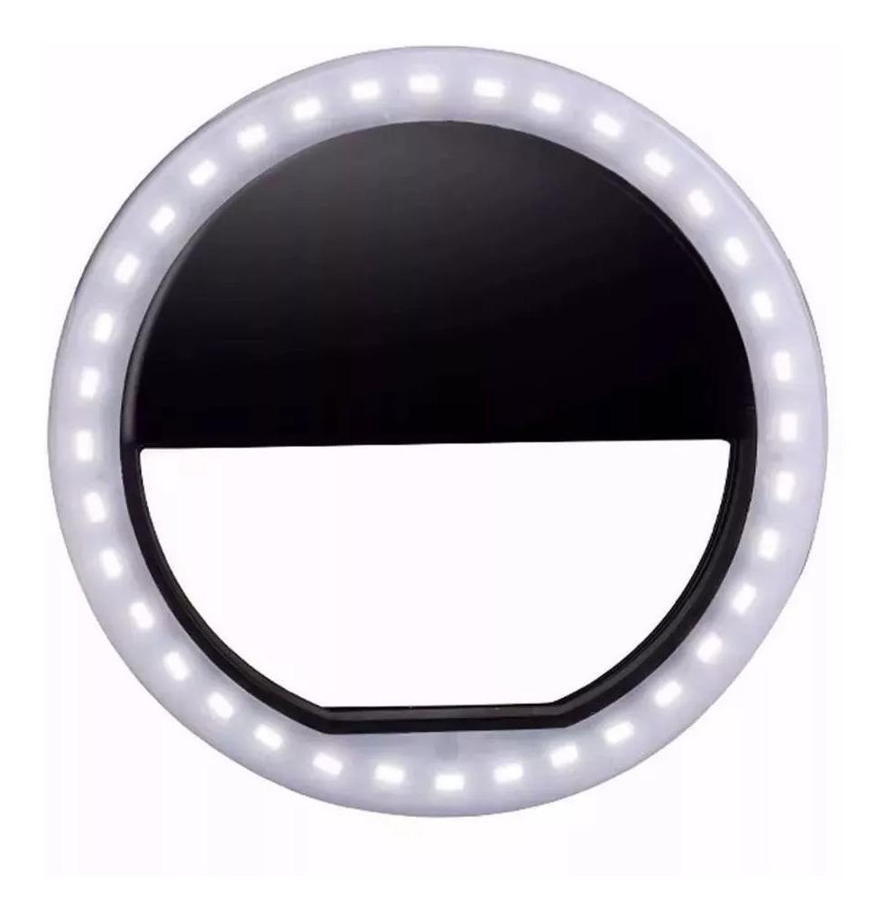 95e849f5245 luz de selfie ring light anel led flash celular recarregável. Carregando  zoom.