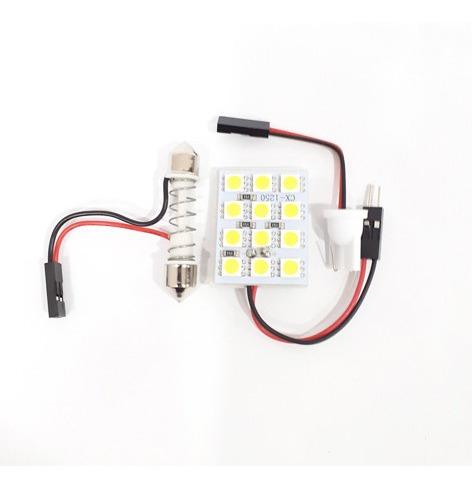 luz de techo 12 led lampara tipo galleta carro