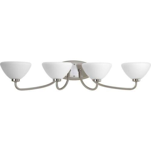 luz de tocador progress lighting rave collection, 4 luces,