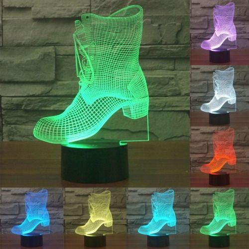 luz decorativa iluminacion novedad bota 7 color