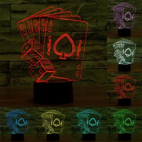 luz decorativa iluminacion novedad poquer 7 color