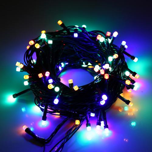 luz decorativa navidad 220v conector ue impermeable 100 led