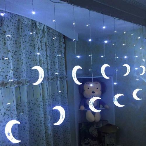 luz decorativa navidad 2.5m 5 leds vida impermeable blanca