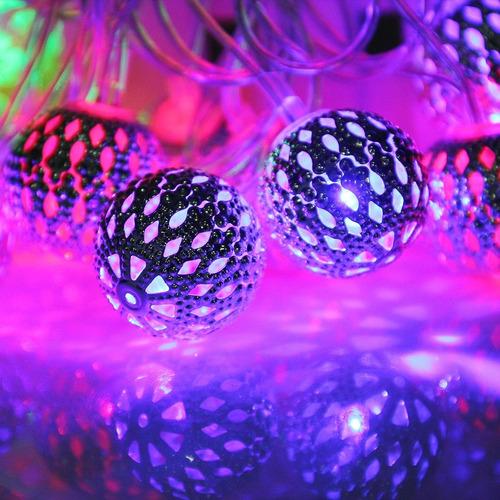 luz decorativa navidad 2,7 millone 3w metal 20 led blanco