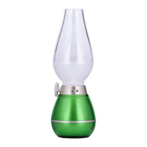 luz decorativa nocturna 0.4w usb recargable retro verde