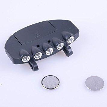 luz del casquillo de 5 led que se conecta a gorras y los c