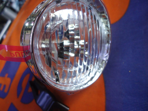 luz delantera bicicleta tipo dinamo retro pila croma  racer