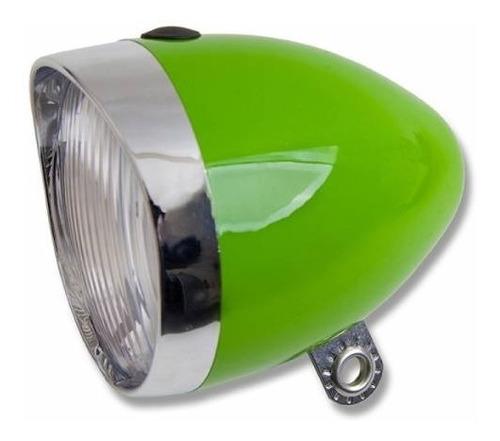 luz / destellador delantero retro p/ bici verde jy-592