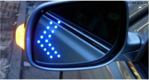 luz direccional retrovisor led azul moto tuning espejo