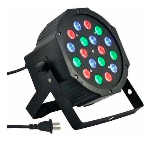 luz dj pls par 181 rgb 18 led 1w dmx - oddity