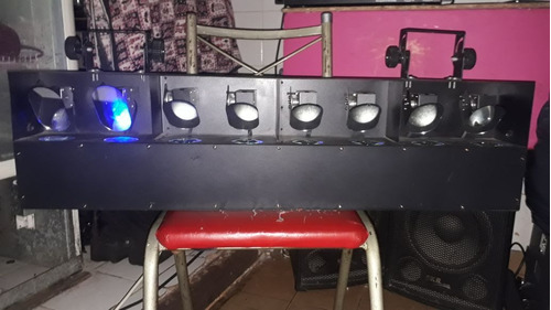 luz efecto cruz de 8 lamparas led con entrada de controlador