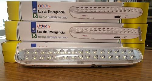 luz emergencia 30 led tbcin 8hs autonomia le-30lt