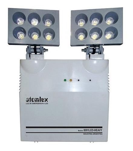 luz emergencia industrial atomlux 8091 heavy 12 faros led