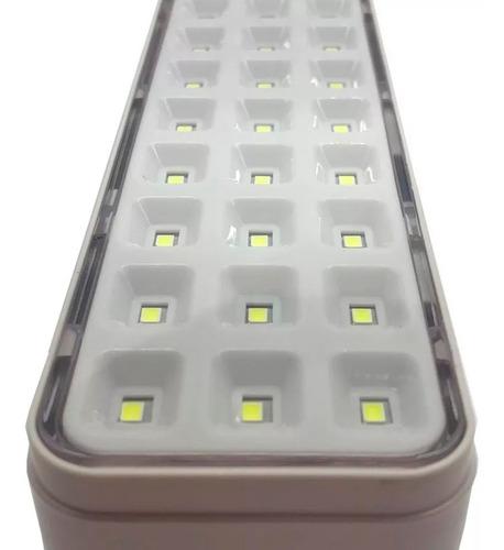 luz emergencia leds recargable 30 leds 8hs pack x4 4u