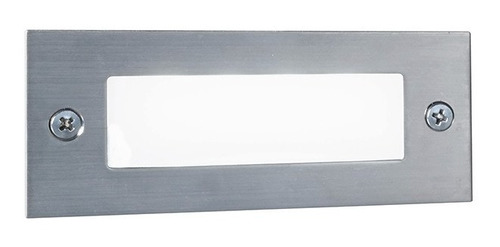 luz empotrar pared led escaleras escalones intemperie acero
