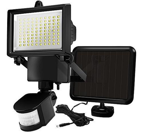 luz exterior led panel solar , sensor movimiento reflector 3