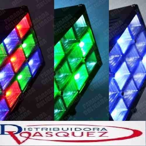 luz flash led audioritmico rgb leds discoteca fiesta strobe