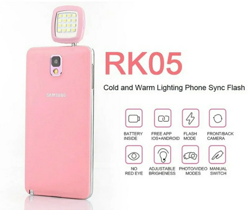 luz flash led selfie s7   iphone 6   huawei p9 jack 3.5mm