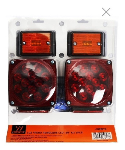 luz freno remolque led +80 pulg. kit 6pcs ferrawyy-tmx