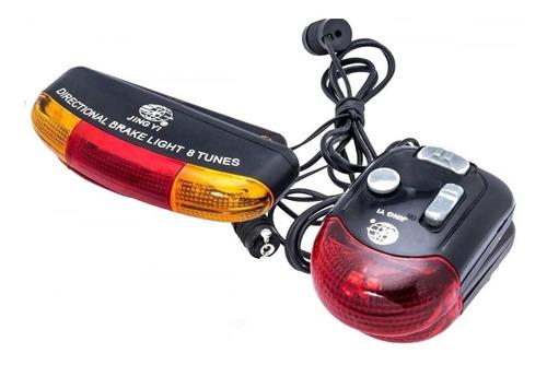 luz giro para bicicleta posicion stop con sonido jy-338 rb