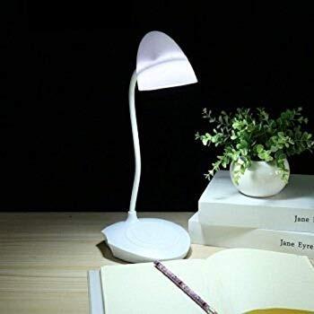 Enchufada Blanca Luz Escritorio Solo De Lampara Led Flexible 08nmwN