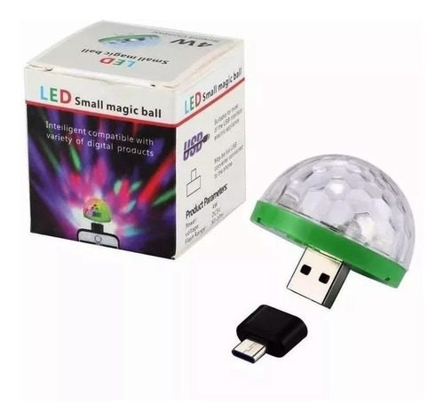 luz lampara original bola boliche audio ritmica celular usb