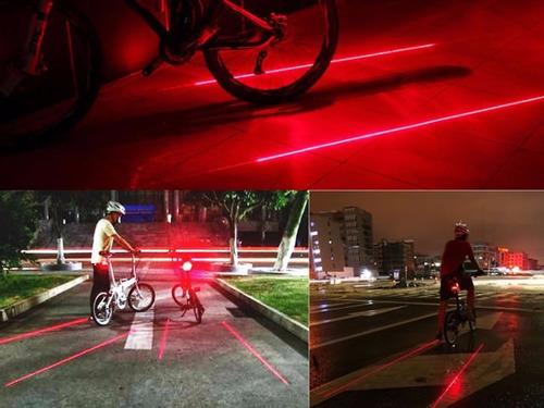 luz láser ciclovía bicicletas