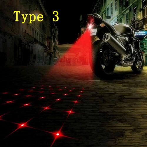 luz láser de freno trasera anticolisión tipo cola estrella.
