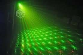 luz láser disco efecto multipunto dj activación por sonido