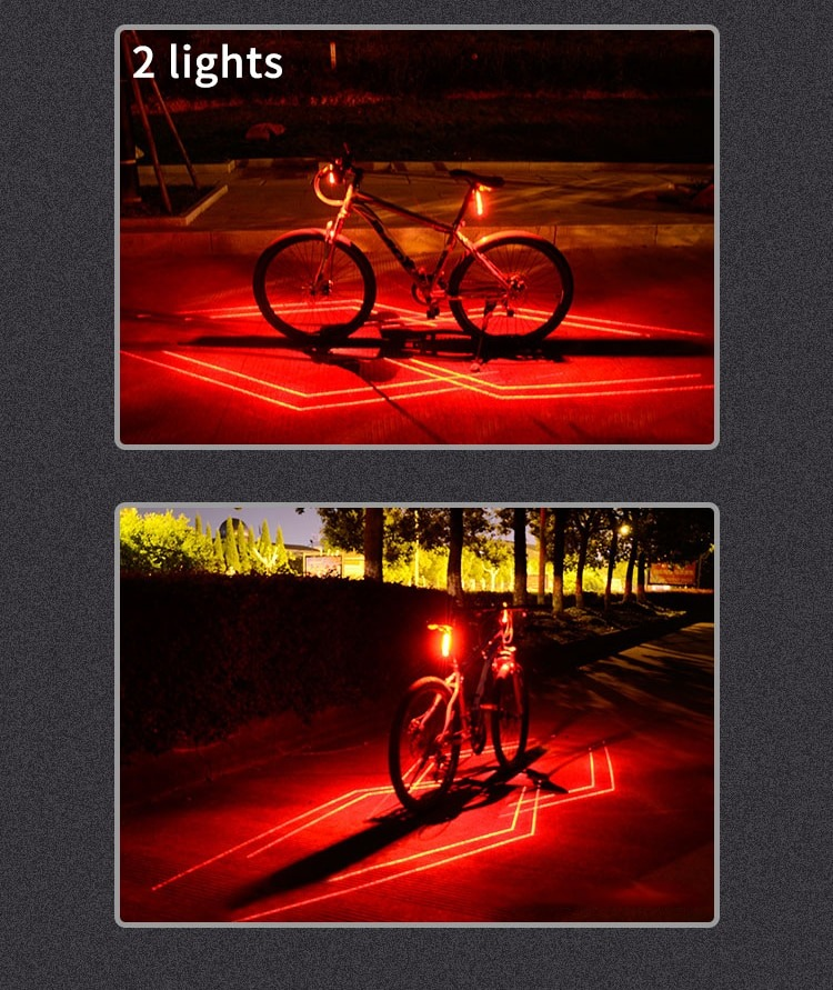 01f361ba8 Luz Laser Usb Recargable Bicicleta Señalizacion Zonal - $ 1.890,81 ...