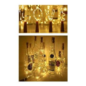 Luz Led Alambre Tipo Corcho Decoración Botellas 20 Luces Led
