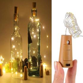 Luz Led Alambre Tipo Corcho Decoración Botellas