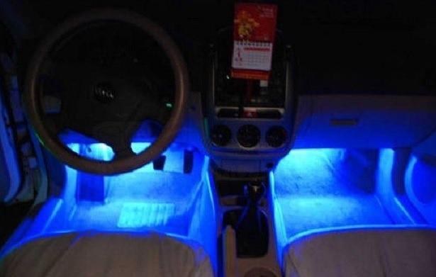 Luz Led Azul Para Ilumina 231 227 O Decora 231 227 O Interior De Carro