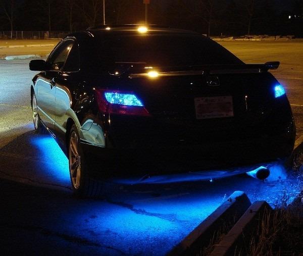 Luz led bajo el auto colores audiorr tmica c remoto for Como fijar un inodoro al piso