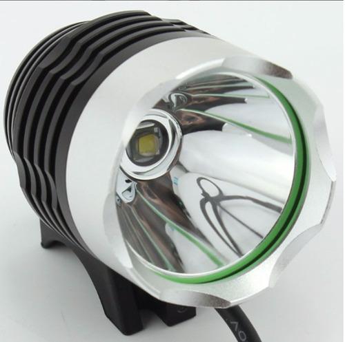 luz led bicicleta+batería 6*18650+cargador+estuche+anillos