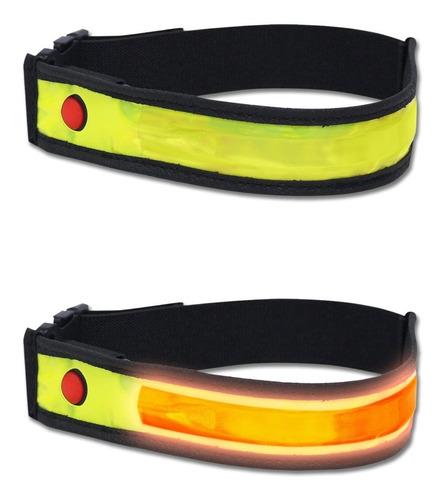 luz led bicicleta running trekking brazalete banda reflectiva smart 2 funciones