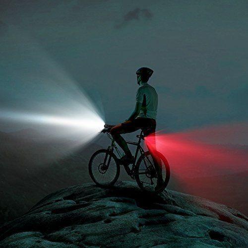 a25f7cb57 Luz Led Bicicleta Seguridad Potencia 3w Cob Rojo Blanco -   189