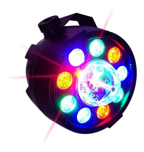 luz led con esfera disco  magic ball rgb par64 cañon 20w