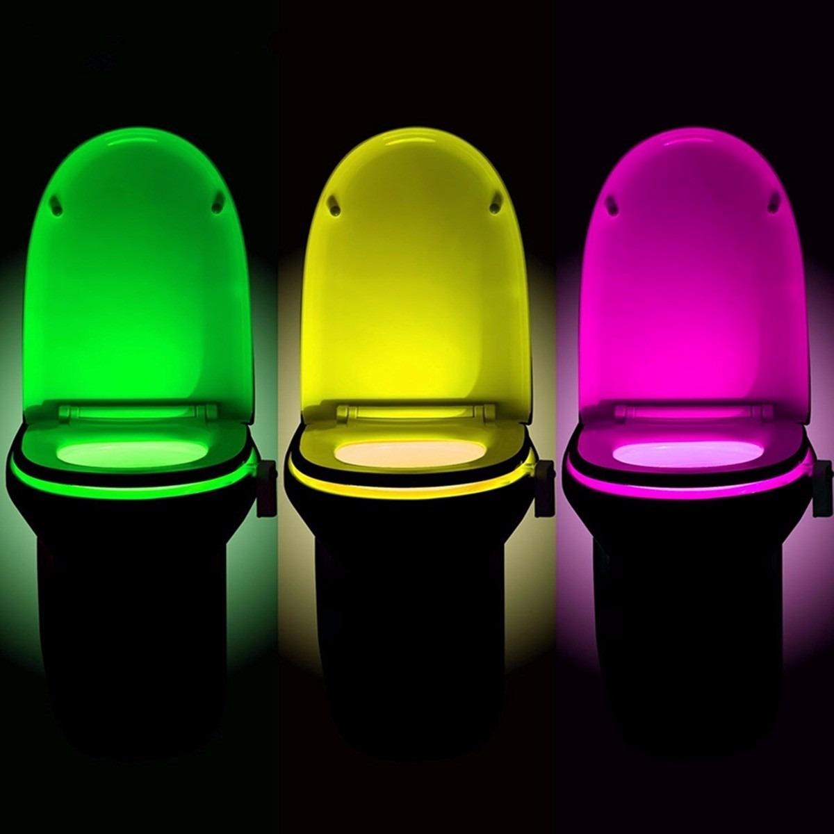 Luz led con sensor de movimiento para taza de ba o 198 - Sensor de movimiento para luz precio ...