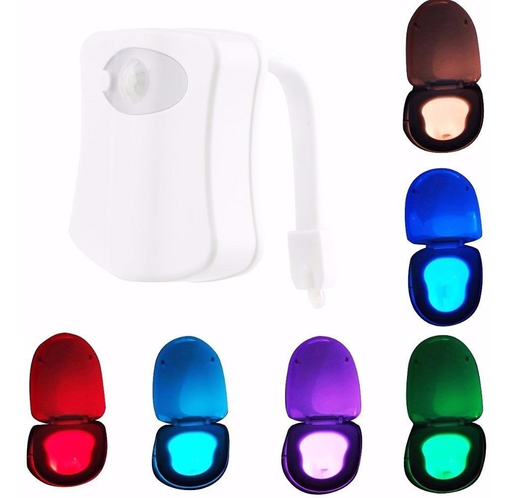 Luz led con sensor de movimiento para taza de ba o 199 - Luz para banos ...