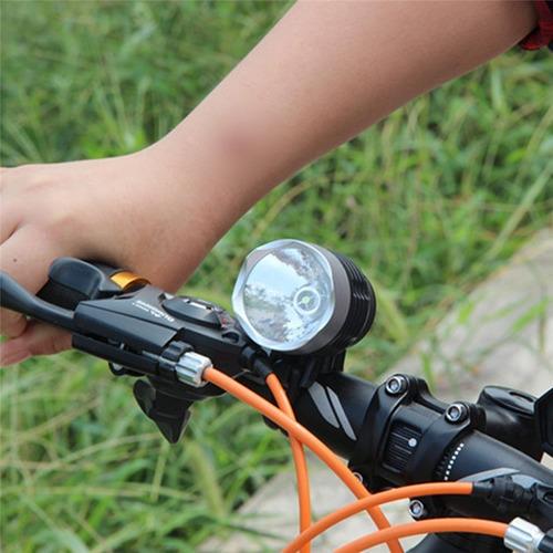 luz led de bicicleta delantera linterna 3000lm